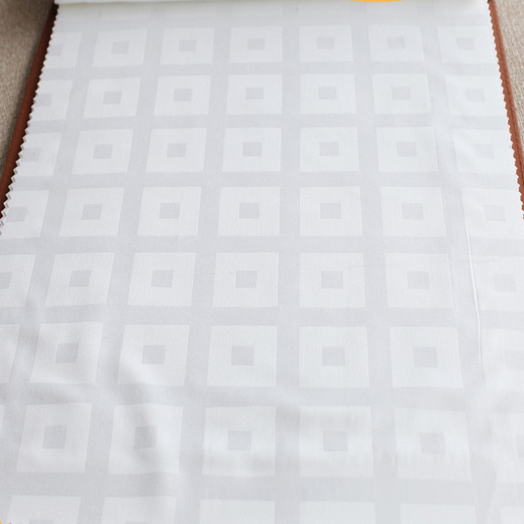 bleached white dobby weave 100% cotton bed linen hotel fabric