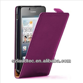 ULTRA SLIM Vertical Leather Flip Case Mobile Phone Cover for Huawei Ascend Y300