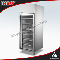 580L Glass Door can cooler fridge/Coke Single Door Cooler/Rolling Beverage Cooler
