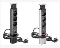 under desk conference tabletop pdu office usb socket furniture with vga and hdmi