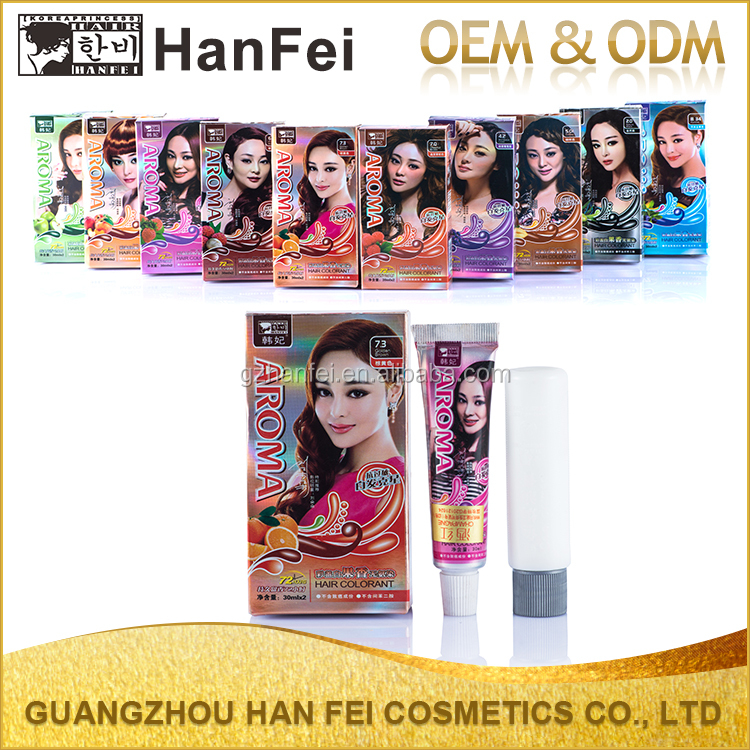 Free sample 30ml*2 mini permanent black hair white color hair dye brands