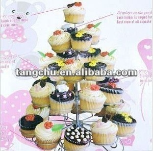high quality and low price new cup cake stand tree holder muffin serving birthday cake 41 cups party 5 tier