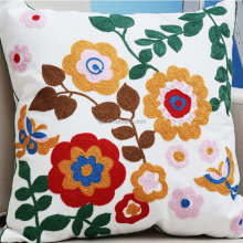 Wholesale Custom Sunflower Design Cotton Embroidered Sofa Cushion Covers