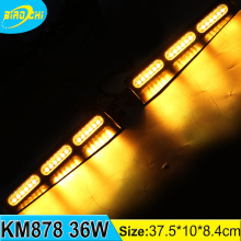 36W car safety lights visor&windshield mount amber led flashing strobe warning light