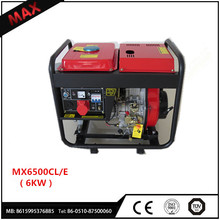 Portable Use Home 186F 4-Stroke OHV Diesel Generator 6KW for sale