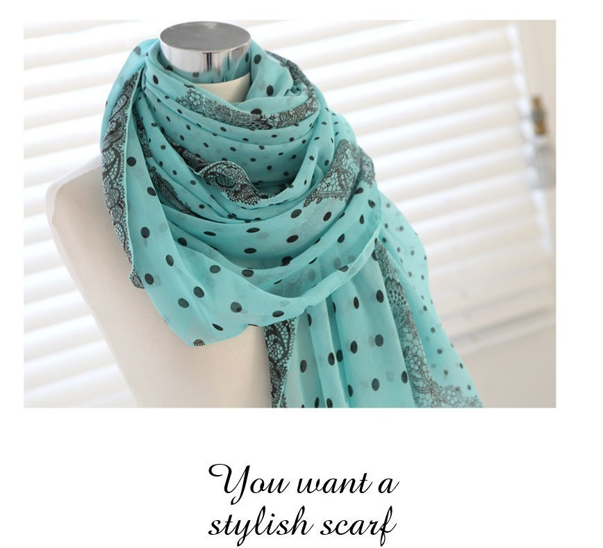 Neck printed fashion knitting pattern cotton esarp scarf