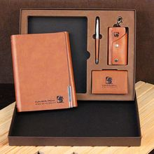 Corporate anniversary gifts business notebook gift set with ball pen and name card holder