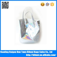 Colorful bright bling PU material fashion handbag new tote women bag