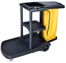 hotel multi-purpose cleaning cart with replaceable bags