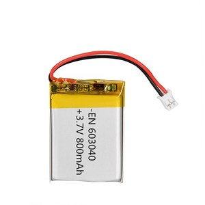EN603040 650mAh 3.7V Li- polymer battery rechargeable with good function
