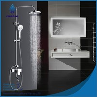 Modern design eco-friendly brass shower panel set