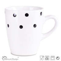 stoneware cheap round color glaze with dot mugs