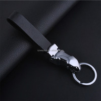 Men's Leather Jaguar Keychain