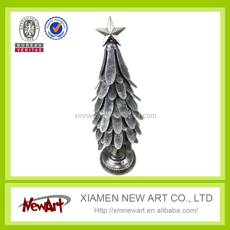 Home decoration craft art metal outdoor metal christmas trees