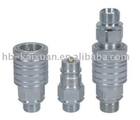 stainless steel air coupling pneumatic and hydraulic quick release coupling