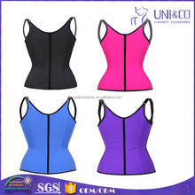 100% Latex slim sexy underwear steel boned waist shaper corset