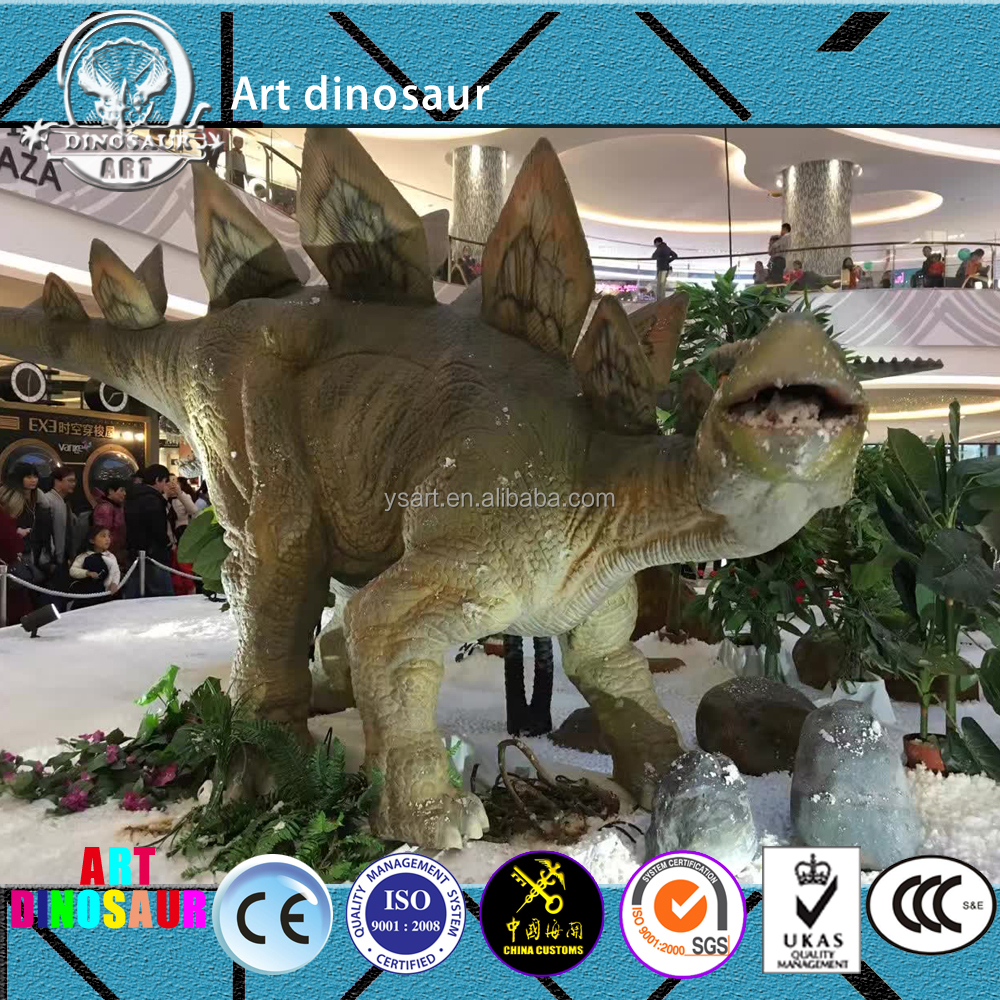 Outdoor Theme Park Artificial Animatronic Dinosaur,Playground Animatronic Dinosaur Exhibit,Giant Animatronic Stegosaurus Model