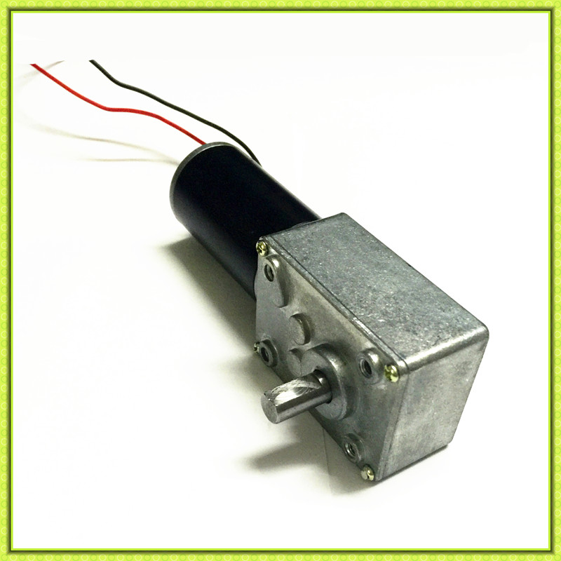 Low rpm high torque micro 24v 12 volt dc worm gear motor for Low rpm motor dc