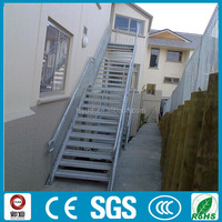 Competitive prices wrought iron prefabricated outdoor straight stairs