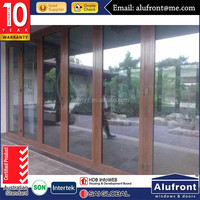AS2047 best vision with high tightness aluminum double glazed bi-folding door