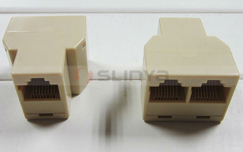 8P8C RJ45 Coupler Connector Ethernet RJ45 Splitter with Parallel wiring