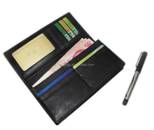 Hot selling classical style PU leather bifold card wallets