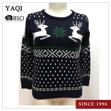 2017 Hot Sale Nice Jacquard Christmas Jumper Unisex Xmas Knitted Pullover Sweater