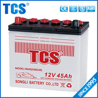 Hot sale Dry charged JIS 55B24R NS60 car battery