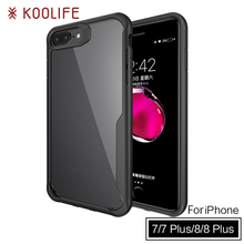 New products TPU PC Clear Back Cover Luxury Phone case for iPhone 7 plus case