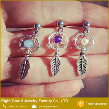 Dream Catcher 316L Surgical Stainless Steel Tragus Ear Piercing Jewelry
