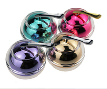 15ml 20ml 30ml 50ml New ball shape colorful plastic cosmetic packaging acrylic cream jar