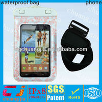 good quality waterproof bag for blackberry cell phone case with IPX8 certificate for swimming