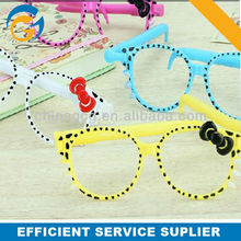 2013 Bowknot Cartoon Glasses Stylus Plastic Ball Pen