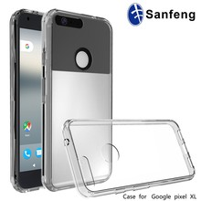 Single TPU and Acrylic Clear Phone Case For Google Pixel XL 2