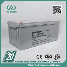Hot sale deep cycle battery 12v 200ah, gel cell inverter battery