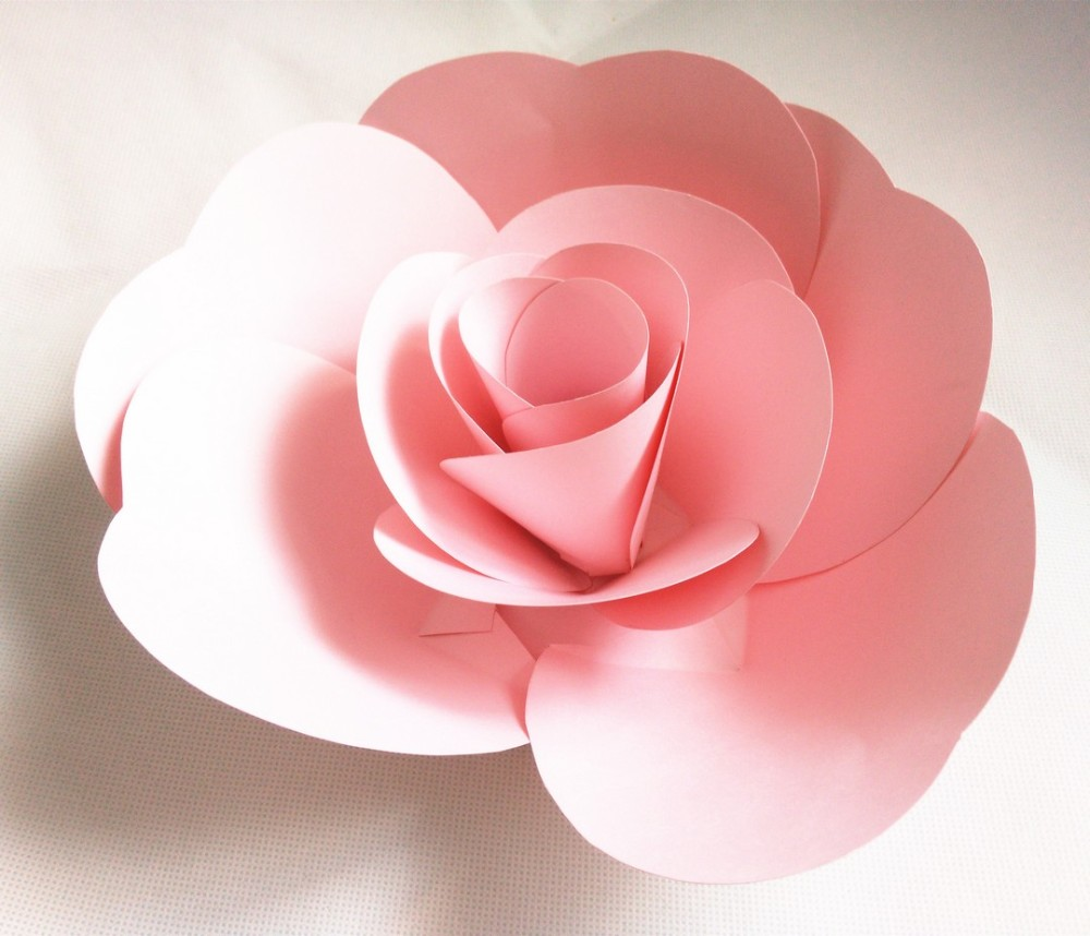 The 20cm Diameter Pink Rose Hot Selling High Quality Handmade Giant Paper Flowers