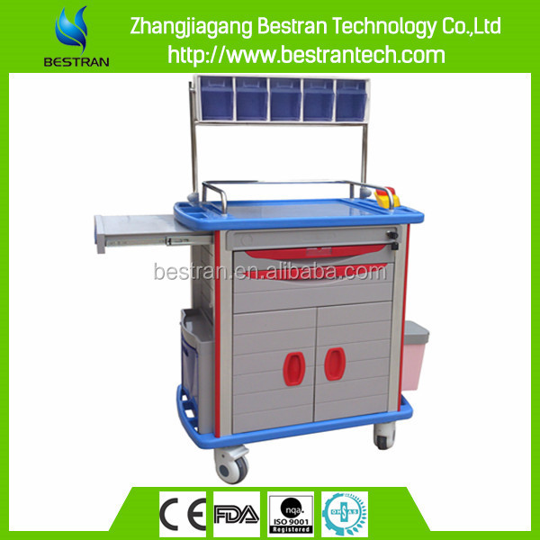 BT-AY003 China factory CE ISO hospital high quality abs anaesthesia trolley