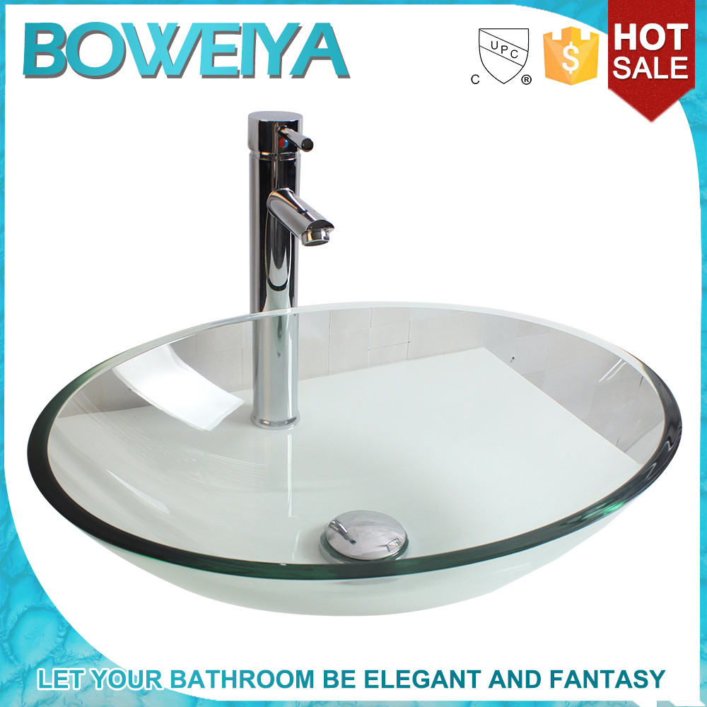 In Stock Supplies Cheap Crystal Glass Hotel Counter Basin
