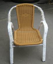 hot sale double-tube aluminum frame rattan wicker stack bar chairs YC030