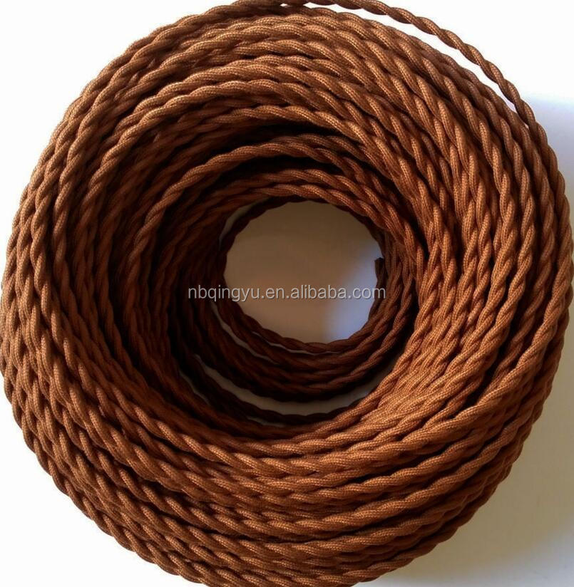 Colorful cotton twisted cord textile twisted cable electric <strong>copper</strong> wire fabric weaving cable