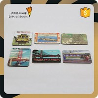 San Francisco Promotional Paper Board Tourist Souvenir Fridge Magnet
