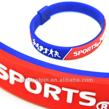 Customized Free debossed silicon wristband for nike