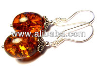 Sterling silver 925, silver earrings, amber, sets jewellery, jewelry