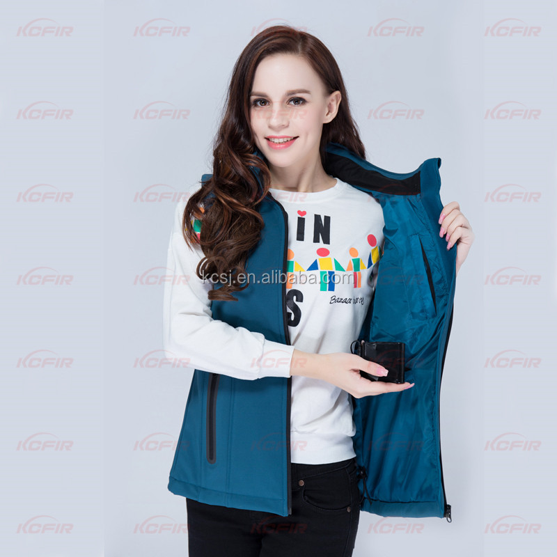 KCFIR far infrared rechargeable women heated vest with 5200 mah li battery is women heated vest