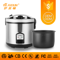 China full body deluxe kitchen appliance for europ market CE CB UL ROHS certificate stainless steel 1.8L rice cooker