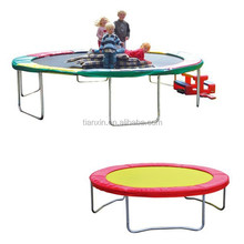 Health & fitness outdoor big jumping trampoline, trampoline bed without enclosure
