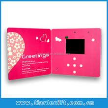 "2014 2.8"" lcd video photoa brochure, video picture cards, video poto book"