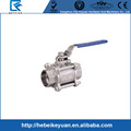 "1"" 1000PSI 3 PC Socket Weld End Ball Valve in SS304 grade"