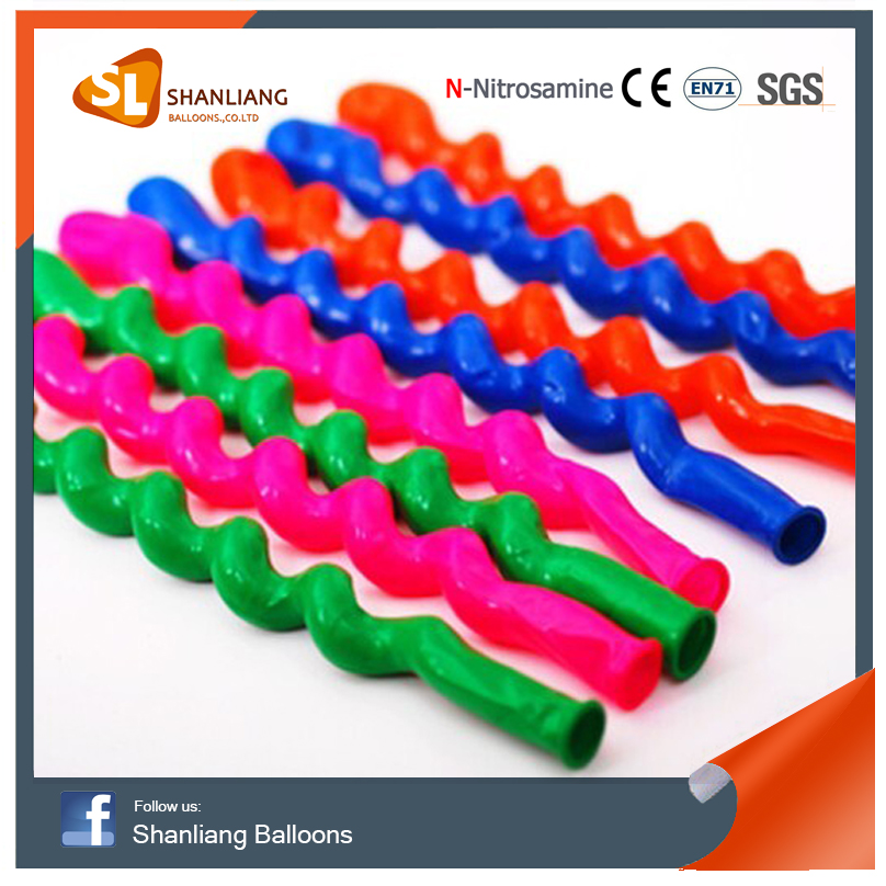 High Quality Screw Balloons, Sprial Shape Helium Latex Balloon, Very Long Novelty Design