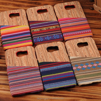 High Quality Dark Walnut Natual Bamboo Hard Real Wood Phone Case for Samsung Galaxy